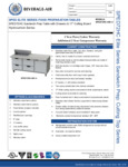 Bev Air SPED72HC-08C-4 Specsheet