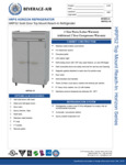 Beverage-Air HRPS2-1S Horizon Series 52 Solid Door Reach-In Refrigerator Spec Sheet