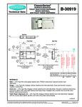 Bobrick B-30919 Surface Mounted Specsheet