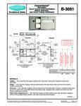 Bobrick B-3091 Recessed Dispenser Specsheet