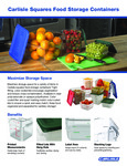 Carlisle Square Storage Containers Fact Sheet