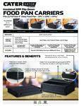 CaterGator Top Load Spec Sheet