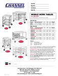 Channel Mobile Work Tables Specs