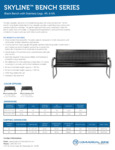 Commercial Zone Skyline Black Bench Specs