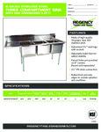 Regency 600S3151515 LFT Sink spec sheet
