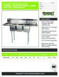 Regency 600S31515215 Sink spec sheet