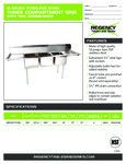 Regency 600S31717224 Sink spec sheet