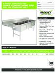 Regency 600S3242424 LFT spec sheet