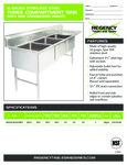 Regency 600S3242424 RT spec sheet