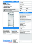 Continental Refrigerator 1FXN Specsheet