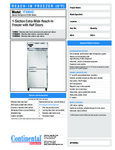 Continental Refrigerator 1FXNHD Specsheet