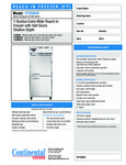 Continental Refrigerator 1FXSNHD Specsheet