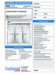 Continental Refrigerator D3RN Specsheet