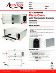 Countertop Pizza Oven 177CPO12TS Specsheet