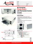 Countertop Pizza Oven 177CPO16TS Specsheet