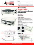 Countertop Pizza Oven 177CPO16TSGL Specsheet