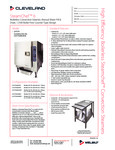 Cleveland SteamChef Connectionless Countertop Steamers Specs