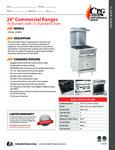 CPG Commercial Range Series 351S24 4 Burner 1 Oven Spec Sheet