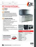 CPG Commercial Range Series 351S60 10 Burner 2 Oven Spec Sheet