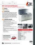 CPG Commercial Range Series 351S60G24 6 Burner Griddle 2 Oven Spec Sheet