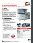 CPG Commercial Range Series 351S60GS24 6 Burner 2 Oven Spec Sheet