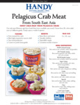 Handy Pelagicus Crab Meat Specsheet