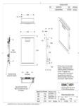 Crown Verity IBI-VD Infinite Series Built-Veritcal Access Doors Line Drawing