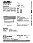 Eagle Group Open Cold Food Table Spec Sheet
