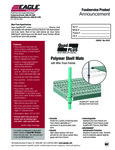 Eagle Group Quad Plus Polymer Shelf Mats
