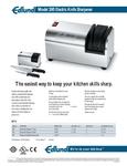 Edlund 395-230V Electric Knife Sharpener Spec Sheet