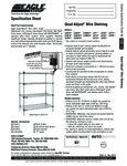 Eagle Group Quad Adjust Wire Shelving Spec Sheet