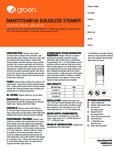 Groen SSB-5E/EF Spec Sheet