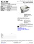 Elkay EWSF13026SACC Spec Sheet