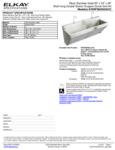 Elkay EWSF26026SACC Spec Sheet
