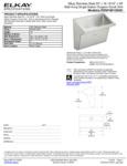 Elkay EWSFAD136201 Spec Sheet