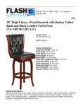 Flash Furniture Cherry Wood Bar Height Spec