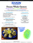Handy 100 Count Whole East Coast Oysters Specsheet