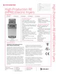 Frymaster HPRE specs