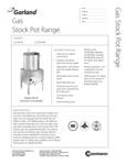 Garland G20-SP Stock Pot Range Specsheet