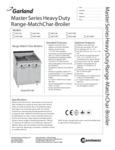 Garland MST Master Sentry Series Charbroilers Specsheet