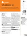 Groen BPM-15GC Spec Sheet