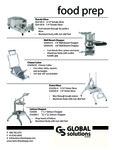 Global Solutions Food Prep Specsheet