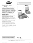Hatco Waffle Maker Specs