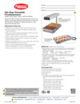Glo-Ray Portable Foodwarmers Spec Sheet