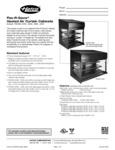 Hatco Flav R Savor Heated Air Curtain Cabinet Specsheet