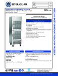 Bev-Air HBF23HC-1-HG Specsheet