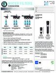 Hoshizaki Water Filter Specs