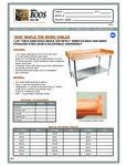 John Boos & Co. DSS Baker's Work Table Specsheet
