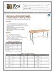 John Boos & Co. JNB Work Table Specsheet