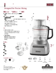 KitchenAid KFP0922 Spec Sheet